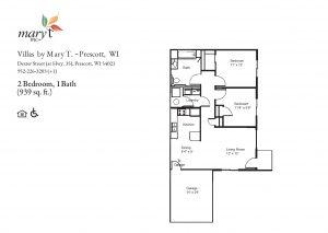 Villas by Mary T of Prescott 2 bedroom floor plan
