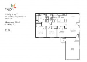 Villas by Mary T of Savage 3 bedroom floor plan
