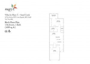 Floor Plan Sand 1099 1bedroom