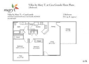 Casa Grande 2 bedroom floor plan