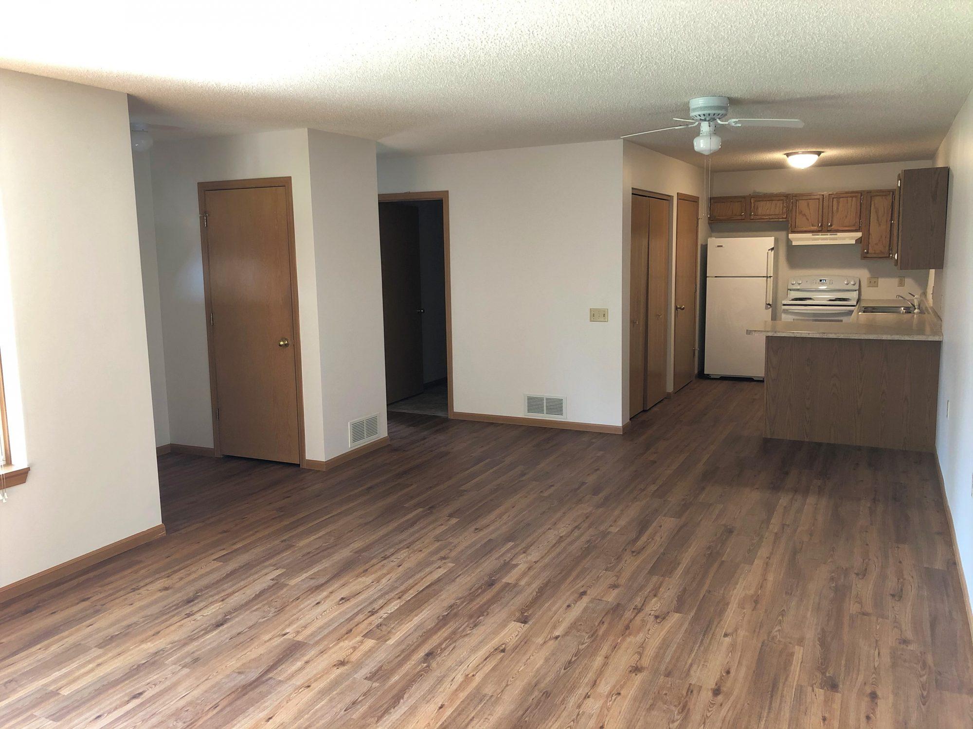 Villas of Caroline living room and kitchen