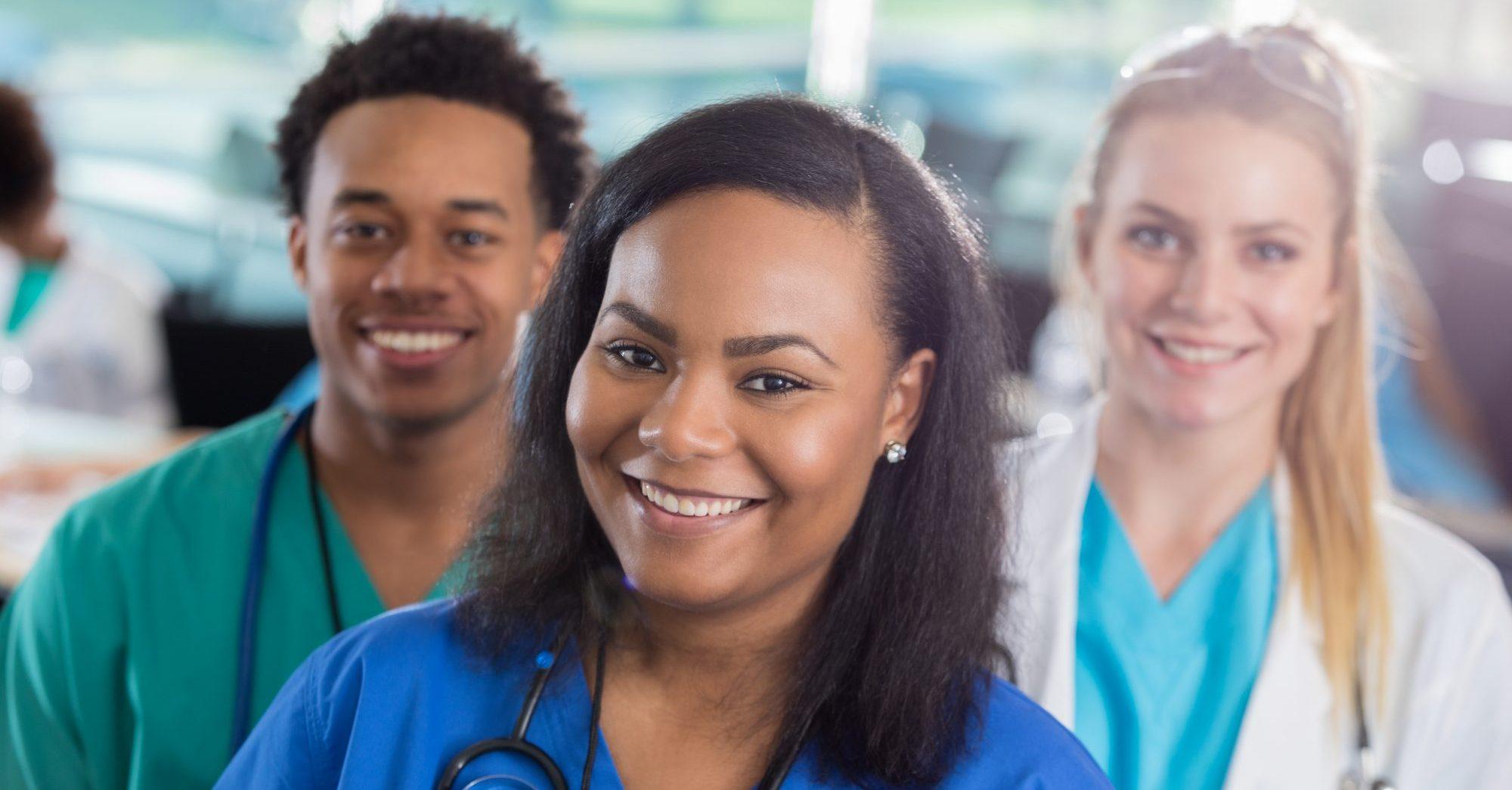 Diverse medical professionals